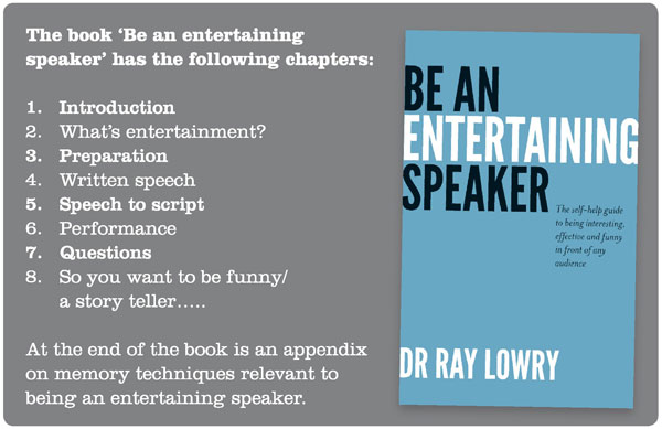 How to be a entertaining guest speaker London